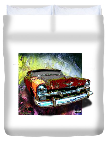 Plymouth From The Past Duvet Cover