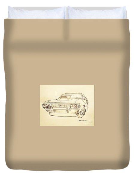 Plymouth Gtx American Muscle Car - Antique  Duvet Cover
