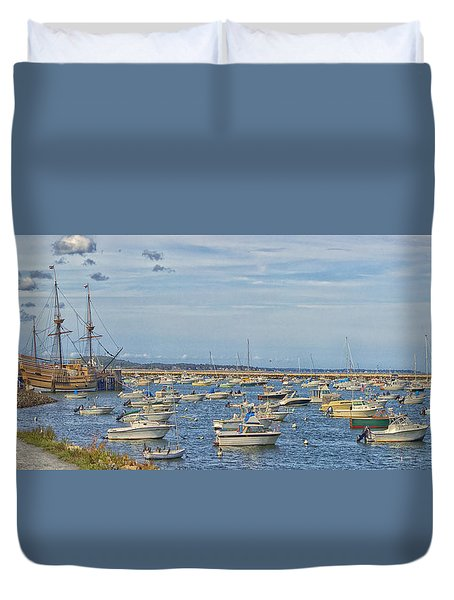 Plymouth Harbor In September Duvet Cover by Constantine Gregory