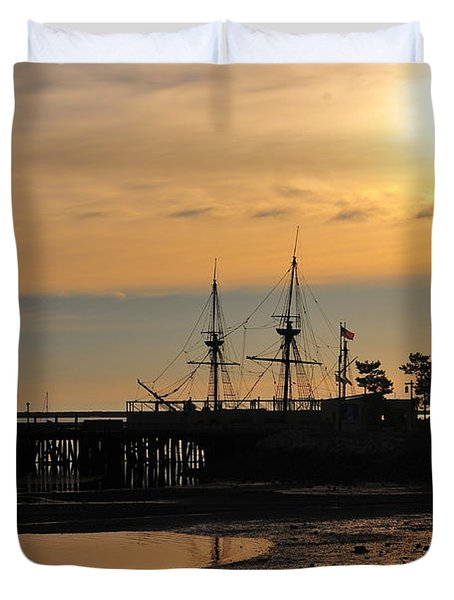 Plymouth Harbor Sunrise Duvet Cover by Catherine Reusch Daley