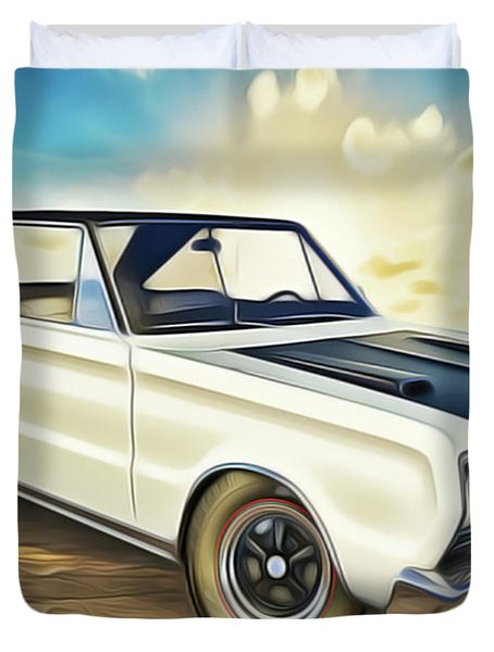 Duvet Cover featuring the painting Plymouth by Harry Warrick