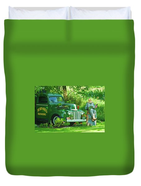 Po Boy Acres Duvet Cover