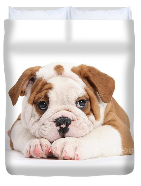 Po-faced Bulldog Duvet Cover
