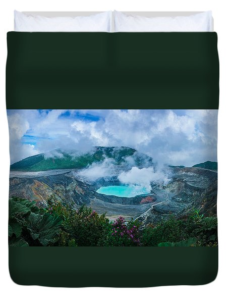 Duvet Cover featuring the photograph Poas Volcano, Costa Rica by RC Pics