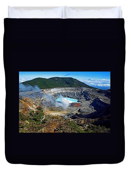 Poas Volcano Duvet Cover