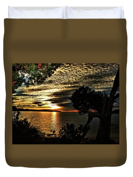 Pocasset Sunset Duvet Cover