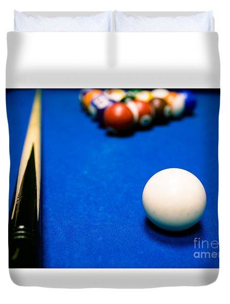 8 Ball Pool Table Duvet Cover
