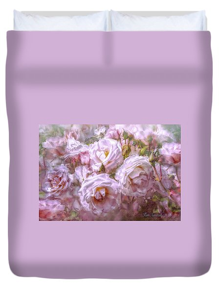 Duvet Cover featuring the digital art Pocket Full Of Roses by Kari Nanstad