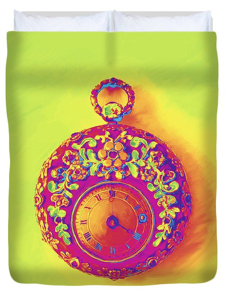 Pocket Watch 1830 Duvet Cover