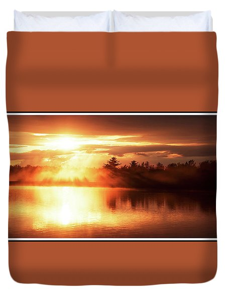 Pocono Mountains, Pennsylvania, Sunset Duvet Cover by A Gurmankin