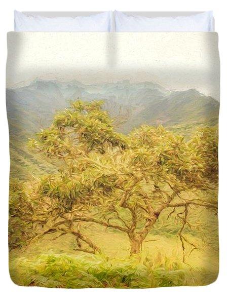 Podocarpus Tree Duvet Cover
