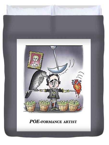 Poeformance Artist Duvet Cover