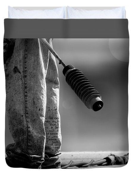 Poetry Pants And Flamethrower  Duvet Cover by Bob Orsillo