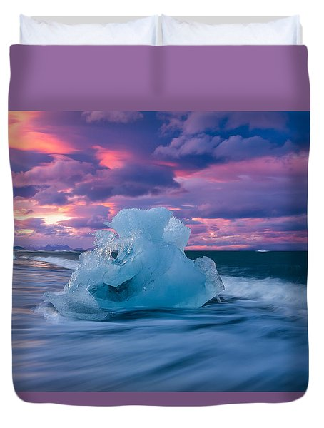 Duvet Cover featuring the photograph Poets Fire by Dustin  LeFevre