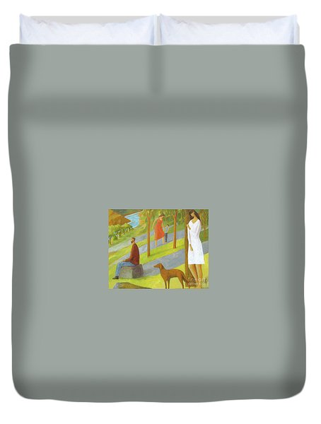 Poets Hill Duvet Cover by Glenn Quist