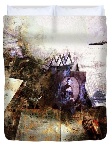 Poets In Picardy Duvet Cover by Claire Bull