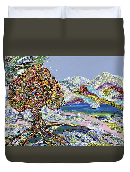 Poet's Lake Duvet Cover by Erika Pochybova