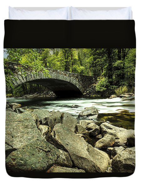 Pohono Bridge Yosemite Duvet Cover