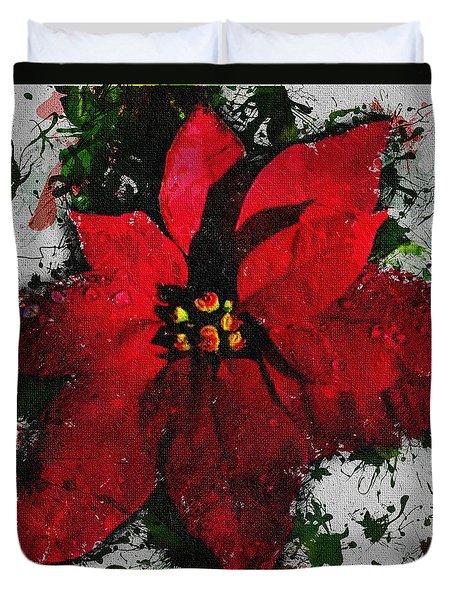 Poinsettia Duvet Cover