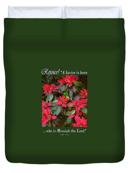 Poinsettia Christmas Duvet Cover