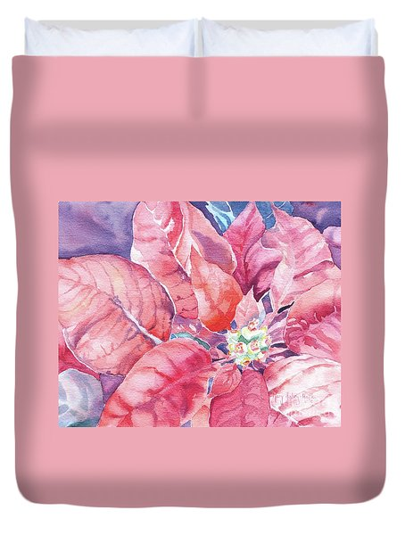 Poinsettia Glory Duvet Cover by Mary Haley-Rocks