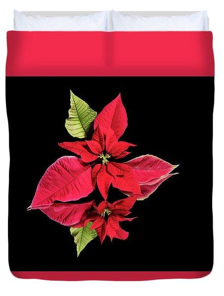 Poinsettia Reflection  Duvet Cover