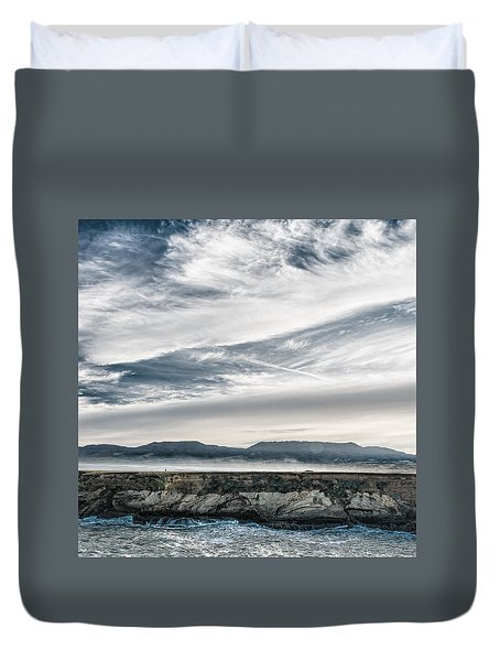 Point Arena, California Dramatic Scenery Duvet Cover