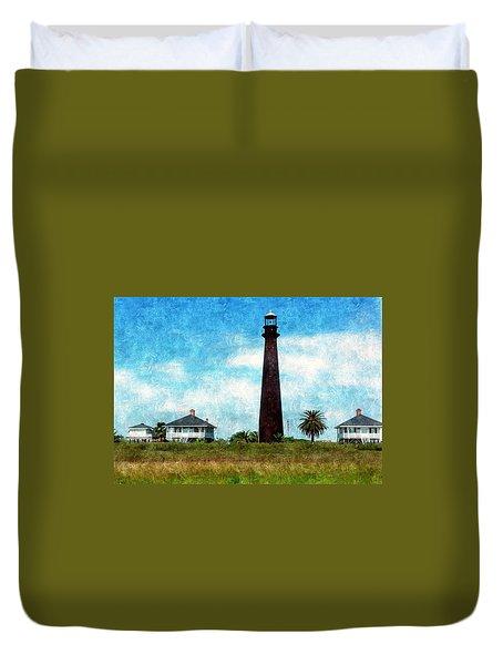 Point Bolivar Lighthouse 1872 Duvet Cover