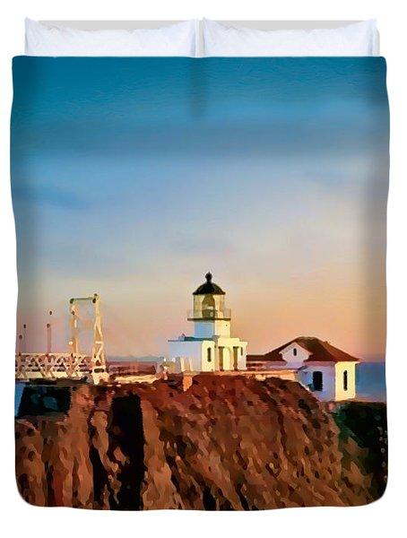 Point Bonita Lighthouse Duvet Cover