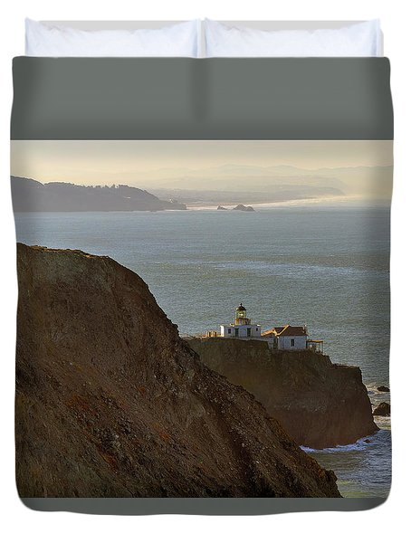 Point Bonita Lighthouse In San Francisco Duvet Cover