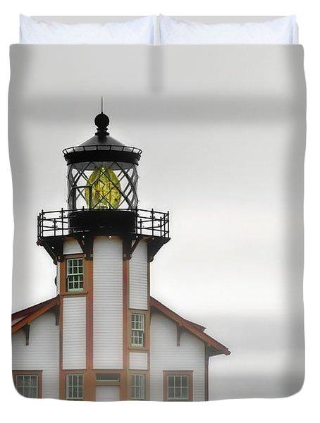 Point Cabrillo Light Station - Mendocino Ca Duvet Cover by Christine Till