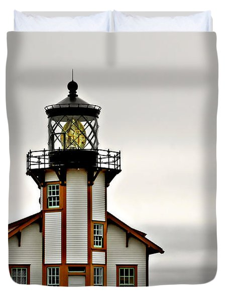 Point Cabrillo Lighthouse California Duvet Cover by Christine Till