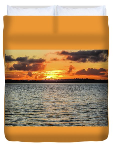 Point Chevalier Beach, Auckland, New Zealand Duvet Cover