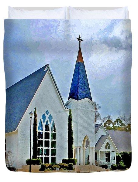 Point Clear Alabama St. Francis Church Duvet Cover