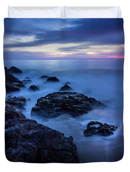 Point Dume Rock Formations Duvet Cover