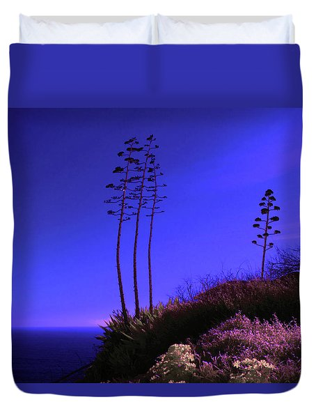 Duvet Cover featuring the photograph Point Fermin In Infrared by Randall Nyhof