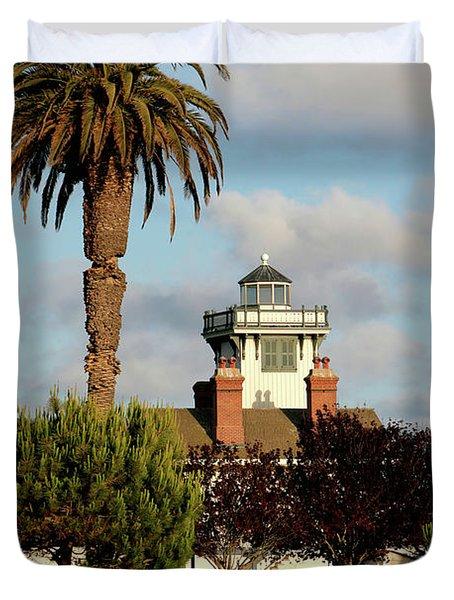 Point Fermin Light - San Pedro - Southern California Duvet Cover by Christine Till