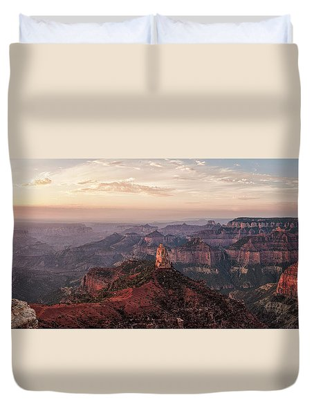Point Imperial Sunrise Panorama I Duvet Cover by David Cote