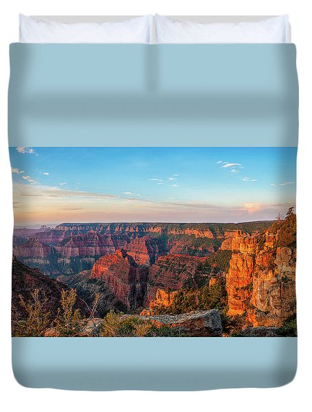 Point Imperial Sunrise Panorama II Duvet Cover by David Cote