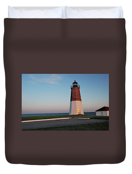 Point Judith Lighthouse Rhode Island Duvet Cover