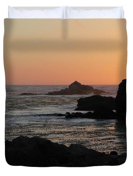 Point Lobos Sunset Duvet Cover