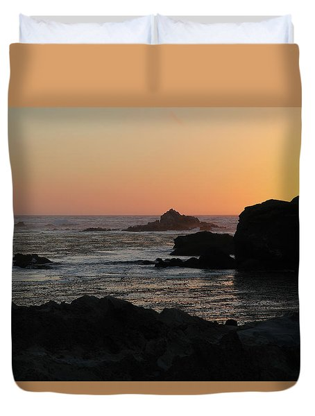 Duvet Cover featuring the photograph Point Lobos Sunset by David Chandler