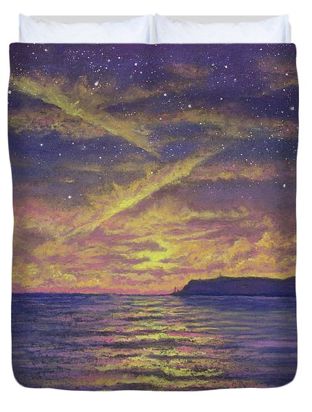Point Loma Sunset 01 Duvet Cover