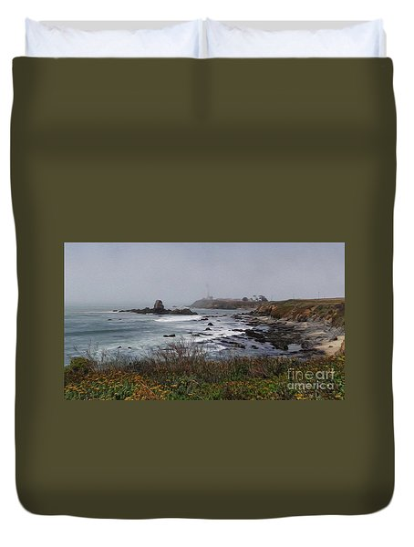 Duvet Cover featuring the photograph Point Montara Lighthouse by David Bearden