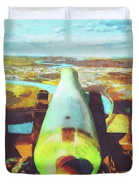 Point Park Cannon Duvet Cover by Steven Llorca