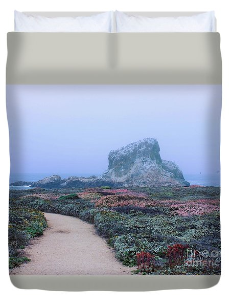 Point Piedras Blancas Duvet Cover