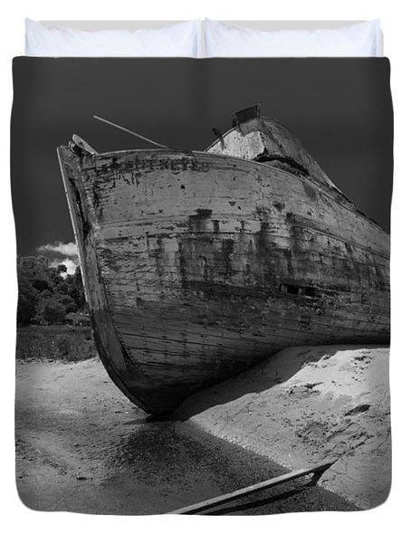 Point Reyes Boat Duvet Cover