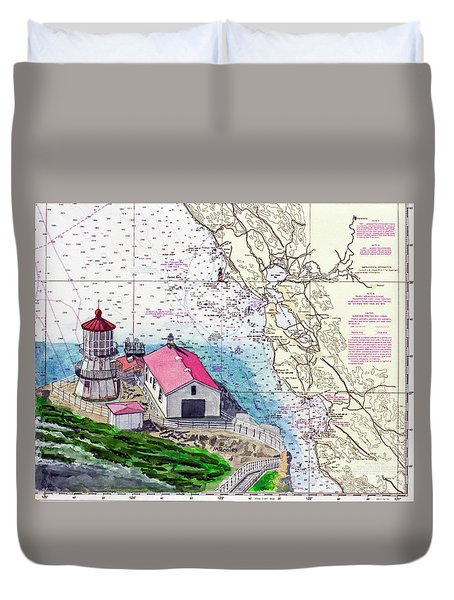 Point Reyes Light Station Duvet Cover by Mike Robles