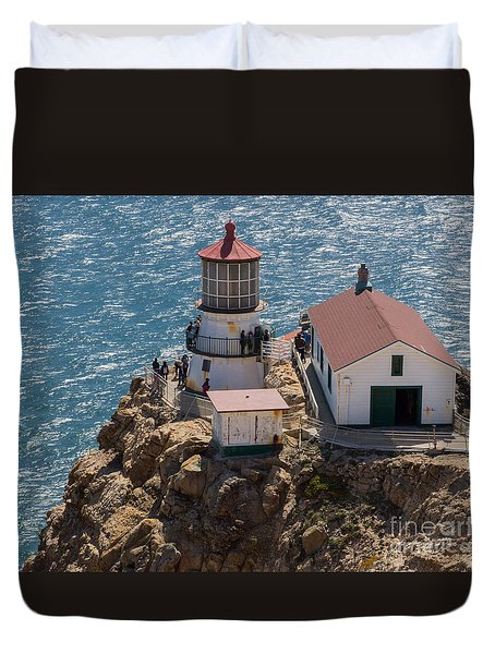 Duvet Cover featuring the photograph Point Reyes Lighthouse by Suzanne Luft