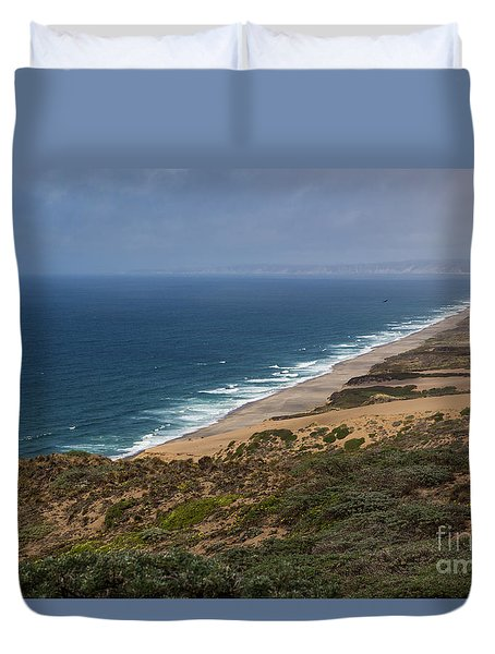 Duvet Cover featuring the photograph Point Reyes National Seashore by Suzanne Luft